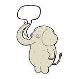 αστείος ελέφαντας κινούμενων σχεδίων με τη λεκτική φυσαλίδα Στοκ φωτογραφία με δικαίωμα ελεύθερης χρήσης