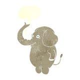 αστείος ελέφαντας κινούμενων σχεδίων με τη λεκτική φυσαλίδα Στοκ εικόνες με δικαίωμα ελεύθερης χρήσης