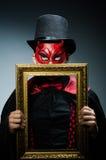 Αστείος διάβολος με την εικόνα Στοκ Εικόνες