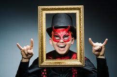 Αστείος διάβολος με την εικόνα Στοκ εικόνες με δικαίωμα ελεύθερης χρήσης