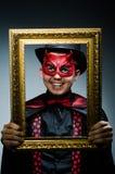 Αστείος διάβολος με την εικόνα Στοκ Φωτογραφία