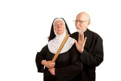 αστείος ιερέας καλογρ&io Στοκ Εικόνες