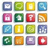 αστείος Ιστός κουμπιών Στοκ εικόνες με δικαίωμα ελεύθερης χρήσης