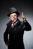 Αστείος ιδιωτικός αστυνομικός με το σωλήνα Στοκ Εικόνα