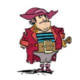 Αστείος καπετάνιος πειρατών Στοκ Εικόνες