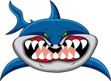 αστείος καρχαρίας κινούμενων σχεδίων Στοκ Εικόνες