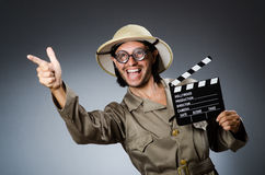Αστείος κυνηγός σαφάρι Στοκ Φωτογραφίες