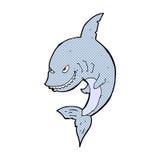 αστείος κωμικός καρχαρίας κινούμενων σχεδίων Στοκ φωτογραφία με δικαίωμα ελεύθερης χρήσης