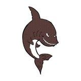 αστείος κωμικός καρχαρίας κινούμενων σχεδίων Στοκ Εικόνες