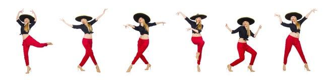Αστείος μεξικανός με το καπέλο σομπρέρο στοκ εικόνες με δικαίωμα ελεύθερης χρήσης