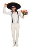 Αστείος μεξικανός με το καπέλο σομπρέρο Στοκ Εικόνες