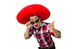 Αστείος μεξικανός με το σομπρέρο Στοκ Εικόνες