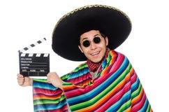 Αστείος μεξικανός poncho Στοκ εικόνα με δικαίωμα ελεύθερης χρήσης