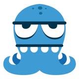 Αστείος μπλε χαρακτήρας τεράτων κινούμενων σχεδίων που απομονώνεται Στοκ φωτογραφία με δικαίωμα ελεύθερης χρήσης