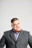 Αστείο ατόμων πορτρέτου πραγματικό γκρίζο υπόβαθρο καθορισμού ανθρώπων υψηλό Στοκ Εικόνα