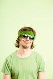 Αστείο ατόμων πορτρέτου πραγματικό πράσινο υπόβαθρο καθορισμού ανθρώπων υψηλό Στοκ Φωτογραφίες