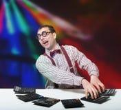 Αστείος λογιστής Στοκ εικόνες με δικαίωμα ελεύθερης χρήσης