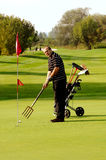 αστείος παίκτης γκολφ Στοκ Φωτογραφία