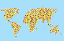 Αστείος παγκόσμιος χάρτης για τα παιδιά ελεύθερη απεικόνιση δικαιώματος