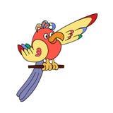 αστείος παπαγάλος Στοκ φωτογραφία με δικαίωμα ελεύθερης χρήσης