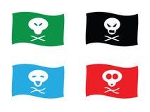 αστείος πειρατής σημαιών Στοκ εικόνα με δικαίωμα ελεύθερης χρήσης