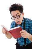 Αστείος σπουδαστής με τα βιβλία Στοκ φωτογραφία με δικαίωμα ελεύθερης χρήσης