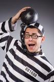 Αστείος φυλακισμένος στις αλυσίδες Στοκ φωτογραφία με δικαίωμα ελεύθερης χρήσης