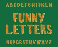 Αστείος χαρακτήρας επιστολών Πηγή κινούμενων σχεδίων Απομονωμένο αγγλικό αλφάβητο Στοκ φωτογραφία με δικαίωμα ελεύθερης χρήσης