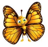 αστείος χαρακτήρας κινουμένων σχεδίων πεταλούδων απεικόνιση αποθεμάτων