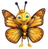 αστείος χαρακτήρας κινουμένων σχεδίων πεταλούδων διανυσματική απεικόνιση