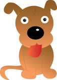 Αστείος χαρακτήρας κινουμένων σχεδίων σκυλιών Διανυσματική απεικόνιση