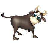 Αστείος χαρακτήρας κινουμένων σχεδίων του Bull Στοκ εικόνα με δικαίωμα ελεύθερης χρήσης