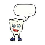 αστείος χαρακτήρας δοντιών κινούμενων σχεδίων με τη λεκτική φυσαλίδα Στοκ εικόνα με δικαίωμα ελεύθερης χρήσης