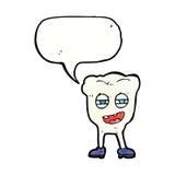 αστείος χαρακτήρας δοντιών κινούμενων σχεδίων με τη λεκτική φυσαλίδα Στοκ Φωτογραφία