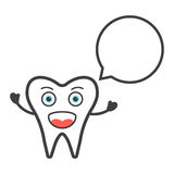 Αστείος χαρακτήρας δοντιών με τη λεκτική φυσαλίδα ελεύθερη απεικόνιση δικαιώματος