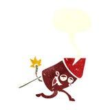 αστείος χαρακτήρας πυροτεχνημάτων κινούμενων σχεδίων με τη λεκτική φυσαλίδα Στοκ φωτογραφίες με δικαίωμα ελεύθερης χρήσης