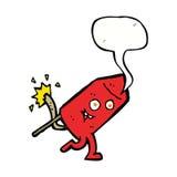 αστείος χαρακτήρας πυροτεχνημάτων κινούμενων σχεδίων με τη λεκτική φυσαλίδα Στοκ φωτογραφία με δικαίωμα ελεύθερης χρήσης