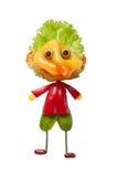 Αστείος χαρακτήρας φαντασίας φιαγμένος από φρέσκα λαχανικά Στοκ Εικόνα