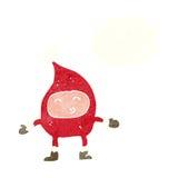 αστείος χαρακτήρας Χριστουγέννων κινούμενων σχεδίων με τη σκεπτόμενη φυσαλίδα Στοκ εικόνα με δικαίωμα ελεύθερης χρήσης