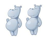 Αστείος χαρακτήρας hippo στοκ φωτογραφία με δικαίωμα ελεύθερης χρήσης
