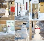 αστείος χιονάνθρωπος κ&omic στοκ φωτογραφία με δικαίωμα ελεύθερης χρήσης