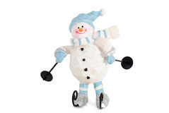 αστείος χιονάνθρωπος χι&o στοκ φωτογραφία με δικαίωμα ελεύθερης χρήσης