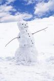 αστείος χιονάνθρωπος Στοκ Φωτογραφία
