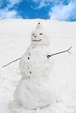 αστείος χιονάνθρωπος Στοκ Φωτογραφίες