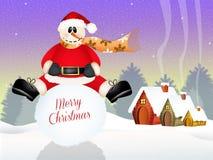 Αστείος χιονάνθρωπος Στοκ φωτογραφίες με δικαίωμα ελεύθερης χρήσης