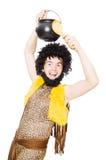 Αστείος caveman το δοχείο που απομονώνεται με Στοκ φωτογραφίες με δικαίωμα ελεύθερης χρήσης
