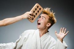 Αστείος karate μαχητής Στοκ φωτογραφίες με δικαίωμα ελεύθερης χρήσης