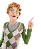 Αστείος nerdy τύπος στοκ εικόνα
