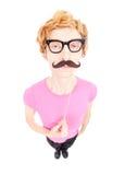 Αστείος nerdy τύπος στοκ φωτογραφίες
