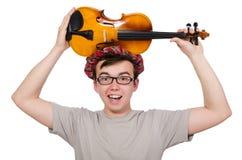 Αστείος scotsman με το βιολί Στοκ εικόνες με δικαίωμα ελεύθερης χρήσης